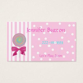 Pretty Childrens Profile card / Calling Card