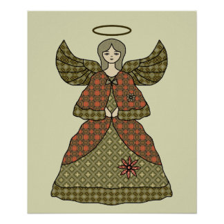 Pretty Christmas Angel Poster