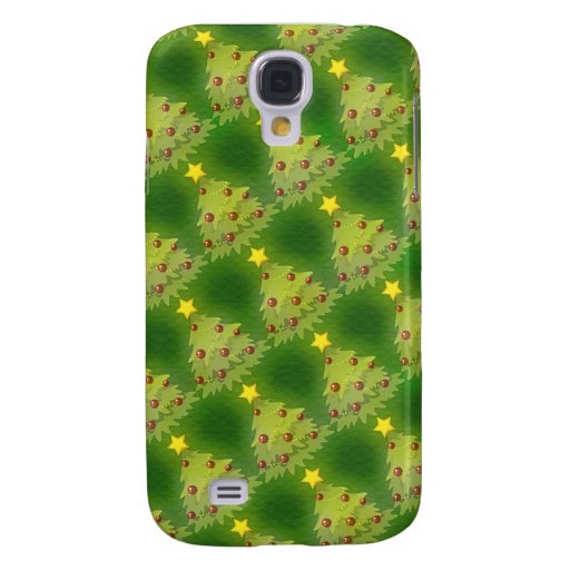 Pretty Christmas Holiday Trees Galaxy S4 Cover