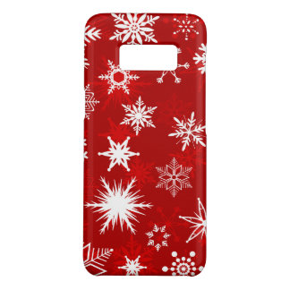 Pretty Christmas snowflakes Case-Mate Samsung Galaxy S8 Case
