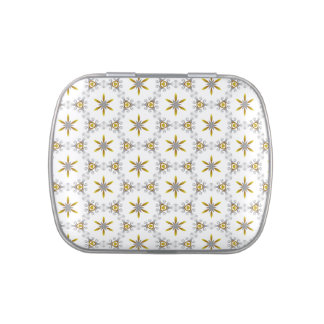 Pretty Christmas Star Pattern Candy Tins