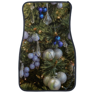 Pretty Christmas Tree Baubles 2 Floor Mat