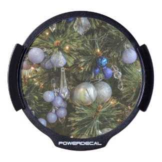 Pretty Christmas Tree Baubles 2 LED Car Decal