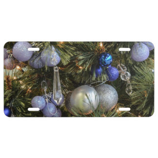 Pretty Christmas Tree Baubles 2 License Plate