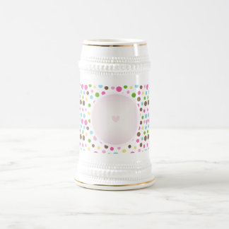 Pretty Circle Pattern with Heart Beer Stein