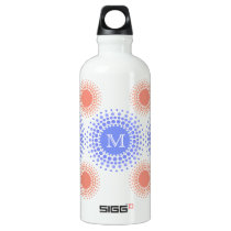 Pretty Circles and Monogram Aluminum Water Bottle
