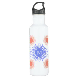 Pretty Circles and Monogram Stainless Steel Water Bottle