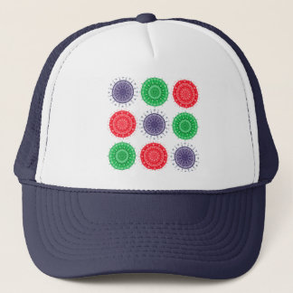 Pretty Circular Pattern Trucker Hat