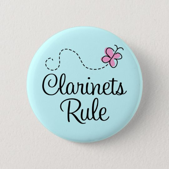 Pretty Clarinets Rule Music Gift Pinback Button