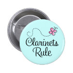 Pretty Clarinets Rule Music Gift Pins