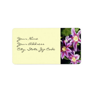 Pretty Clematis address lables Personalized Address Labels