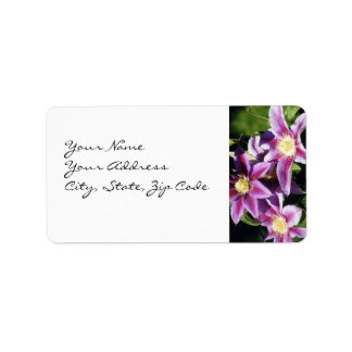Pretty Clematis address lables Personalized Address Label