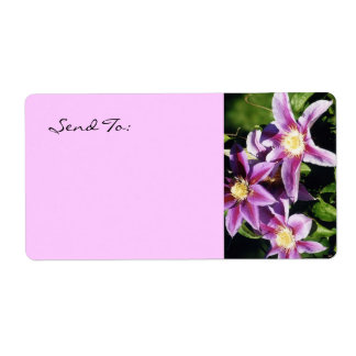 Pretty Clematis address lables Personalized Shipping Labels