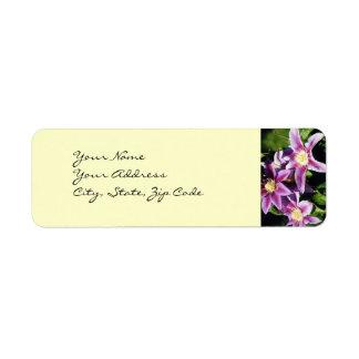 Pretty Clematis address lables Custom Return Address Label