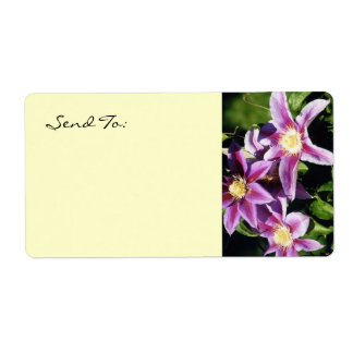 Pretty Clematis address lables Shipping Labels