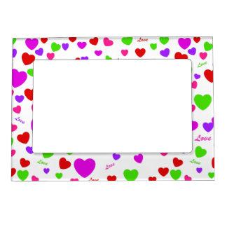 Pretty Coloful Love & Hearts Magnetic Photo Frame