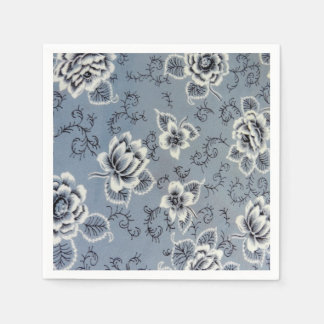 Pretty Colonial Blue Flower | Paper Napkins