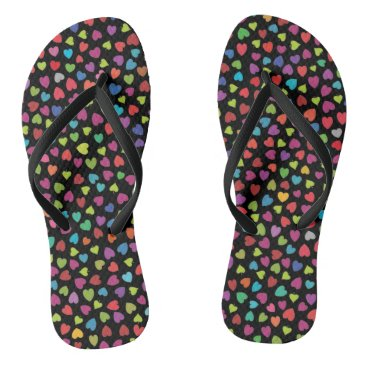 Pretty color Hearts Flip Flops