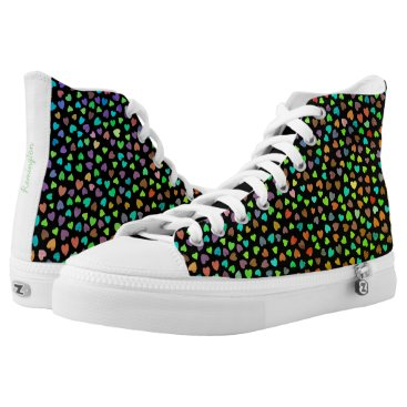 Pretty color Hearts High-Top Sneakers