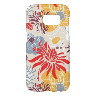 pretty colored  abstract flowers samsung galaxy s7 case