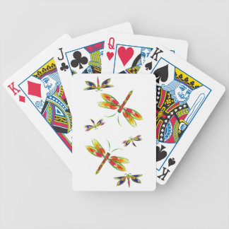Pretty colored dragonflys Playing Cards