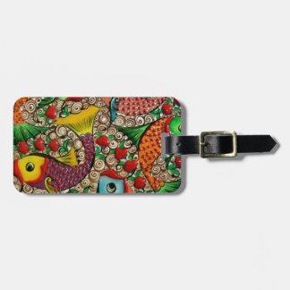 Pretty Colored Fish Luggage Tag