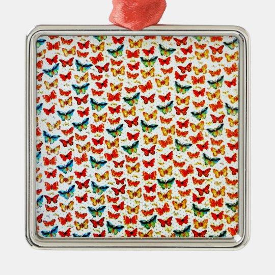 Pretty Colorful Butterflies Design Image Metal Ornament