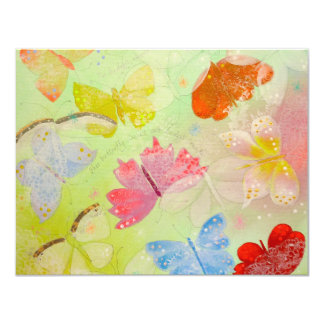 Pretty Colorful Butterflies. Invitation