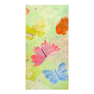 Pretty Colorful Butterflies. Photo Card