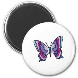 pretty colorful butterfly design 2 inch round magnet