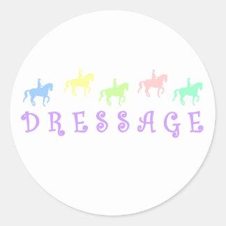 Pretty Colorful Dressage Classic Round Sticker