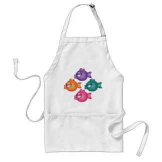 Pretty Colorful Fish Apron