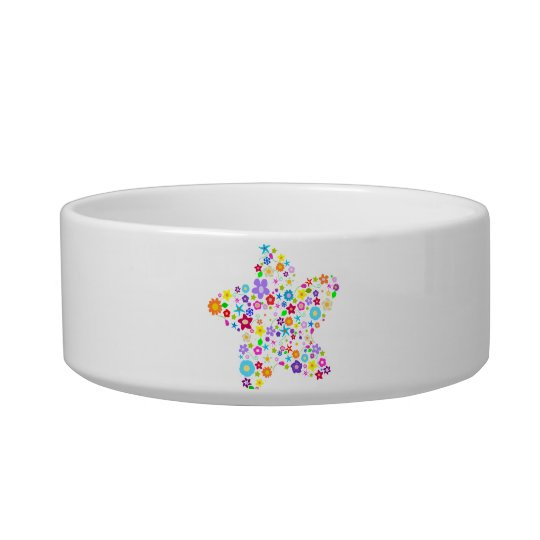 Pretty Colorful Floral Star Bowl