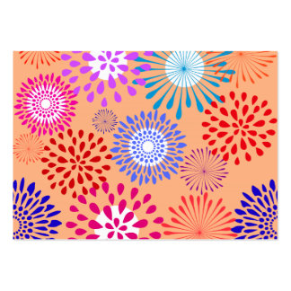 Pretty Colorful Flower Petal Art Peach Pattern Large Business Card