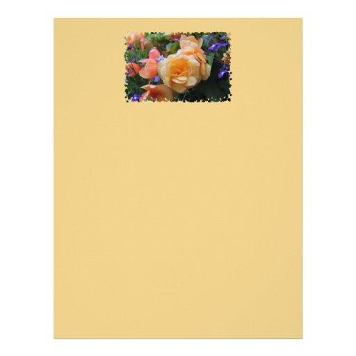 Pretty Colorful Flowers Customized Letterhead