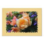 Pretty Colorful Flowers 3.5x5 Paper Invitation Card