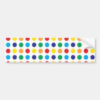 Pretty Colorful Fun Polka Dots Pattern Multi Color Car Bumper Sticker