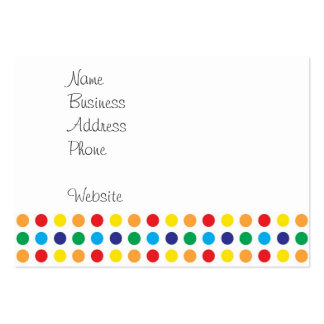 Pretty Colorful Fun Polka Dots Pattern Multi Color Large Business Card