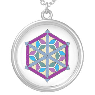 Pretty Colorful Geometric Necklace