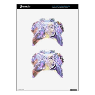 Pretty colorful Girl Xbox 360 Controller Decal