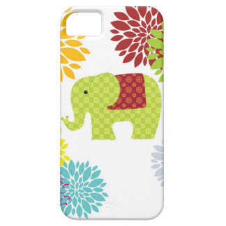 Pretty Colorful Hippie Elephant Flower Power iPhone SE/5/5s Case