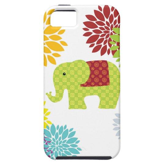Pretty Colorful Hippie Elephant Flower Power iPhone SE/5/5s Case