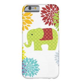 Pretty Colorful Hippie Elephant Flower Power iPhone 6 Case