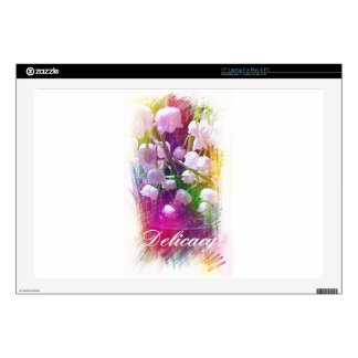 "Pretty Colorful Lily of The Valley Botanical 17"" Laptop Decals"