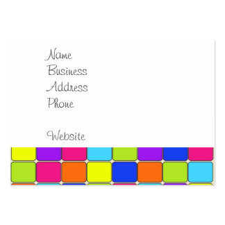 Pretty Colorful Mosaic Tile Pattern Gifts for Her Large Business Card