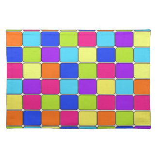 Pretty Colorful Mosaic Tile Pattern Gifts for Her Placemat