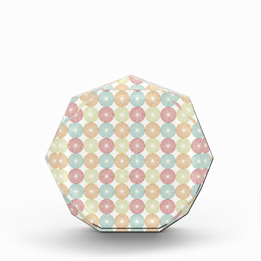 Pretty Colorful Pastel Textured Circles Pattern Acrylic Award