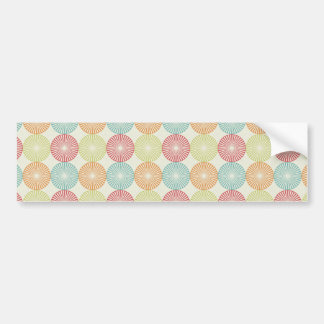 Pretty Colorful Pastel Textured Circles Pattern Bumper Sticker