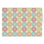 Pretty Colorful Pastel Textured Circles Pattern Card