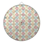 Pretty Colorful Pastel Textured Circles Pattern Dart Boards